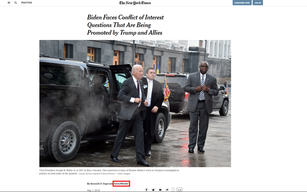 Мендель, Скандал, The New York Times, конфлікт інтересів