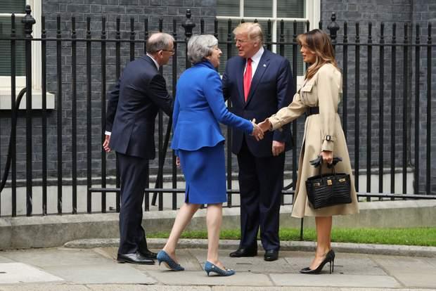 зустріч трампів з терезою мей і її чоловіком філіпом