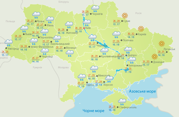 Прогноз погоди на 6 червня: грози та спека не залишать Україну
