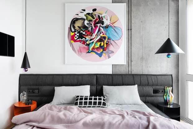 дизайн інтерєр спальня квартира Київ