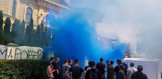 мітинг Гладковський акція протесту фаєри пікет розкрадання в оборонці