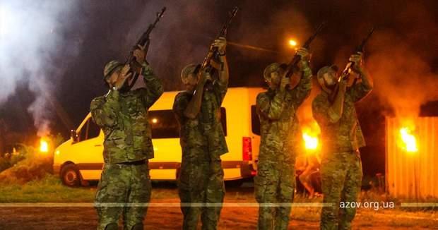 прощання загиблі військові полк Азов Донбас похорон