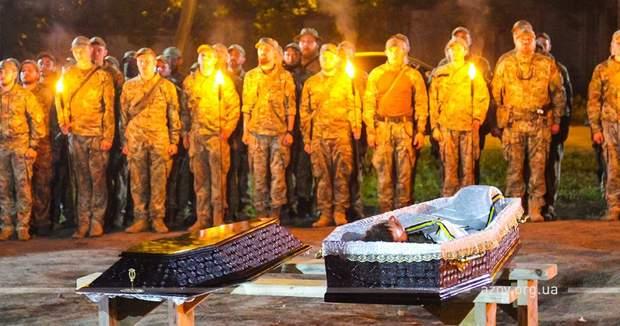 війна на Донбасі ООС втрати Азов похорон прощання