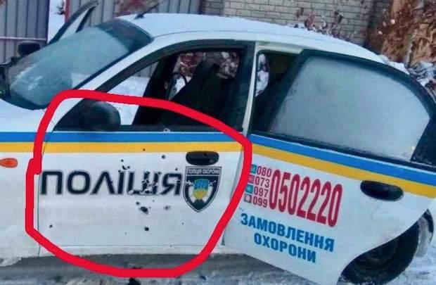 Обстріл машини поліції