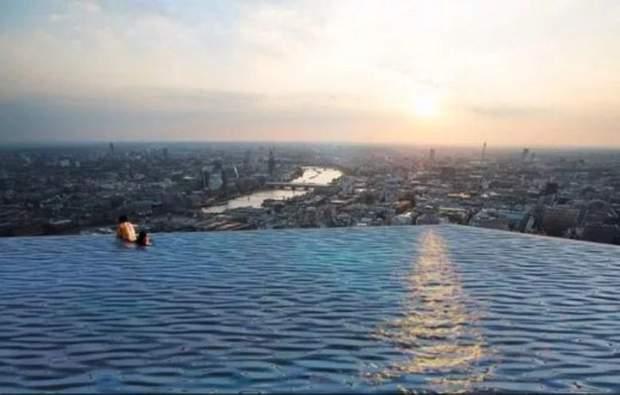 Басейн хмарочос Лондон панорама