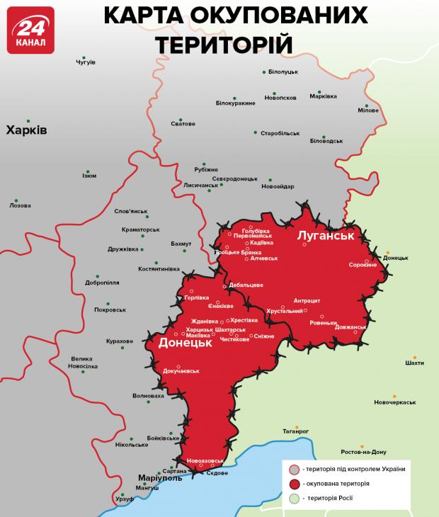 окуповані території донбасу