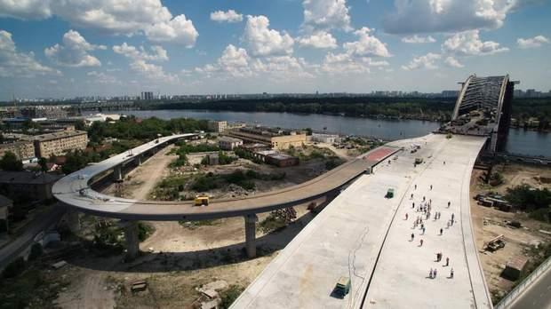 Подільсько-Воскресенський міст Київ будівництво фото