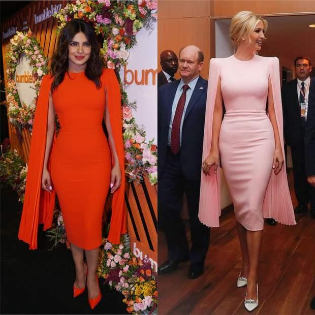 Пріянка Чопра та Іванка Трамп в однакових сукнях
