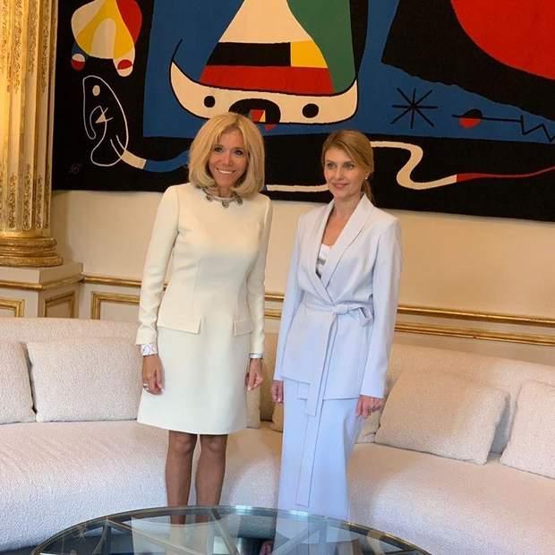 Олена Зеленська і Бріджит Макрон