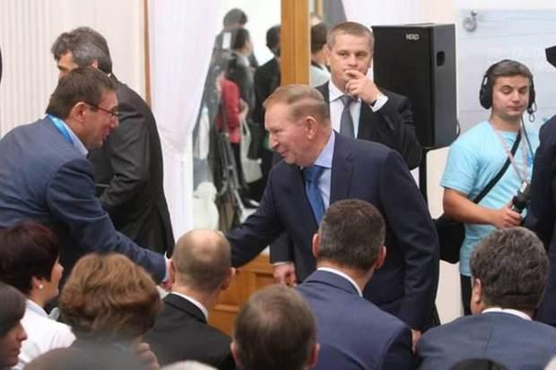 Луценко та Кучма потисли руки