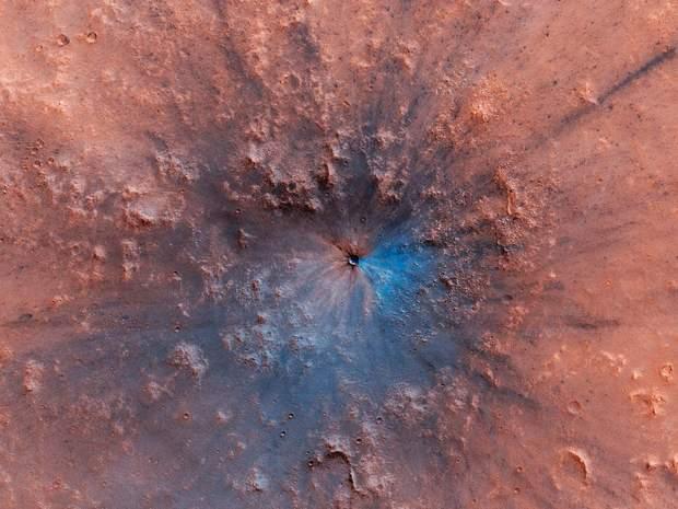 Як виглядає новостворений кратер на Марсі