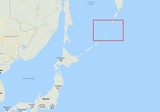 курильські острови карта японія