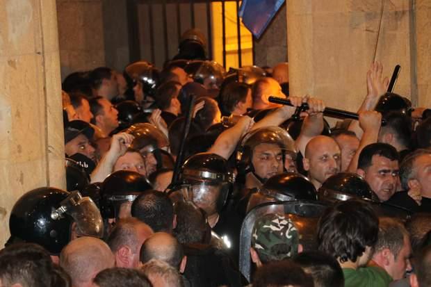 антиросійські протести Грузія