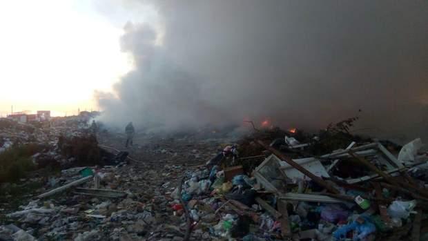 рівненська область пожежа сміттєзвалище