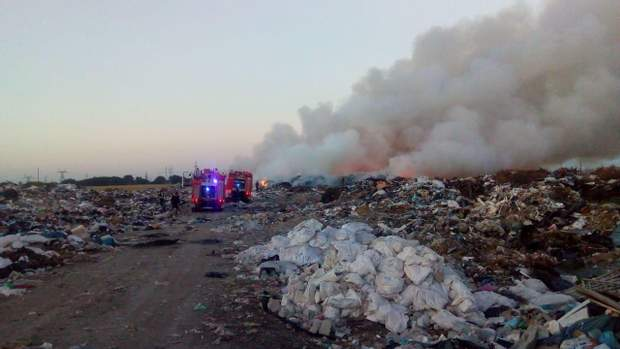 рівненська область сміттєзвалище вогонь пожежа дснс