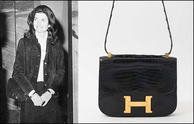 Жаклін Кеннеді з сумкою