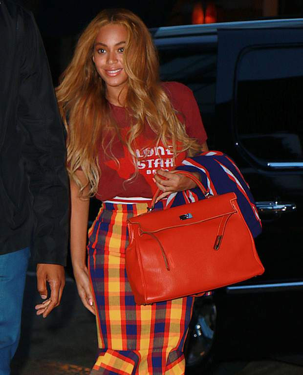 Beyonce з сумкою Hermes