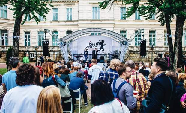 Сцена у дворі Палацу Потоцьких/Leopolis Jazz Fest