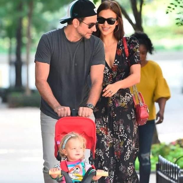 Бредлі Купер та Ірина Шейк на сімейній прогулянці
