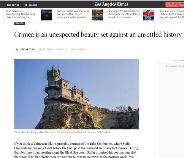 Стаття Los Angeles Times про Крим