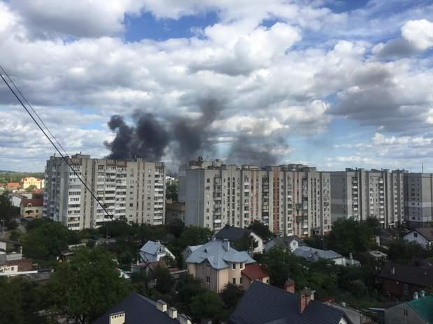пожар Львов вокзал железная дорога пути колеи