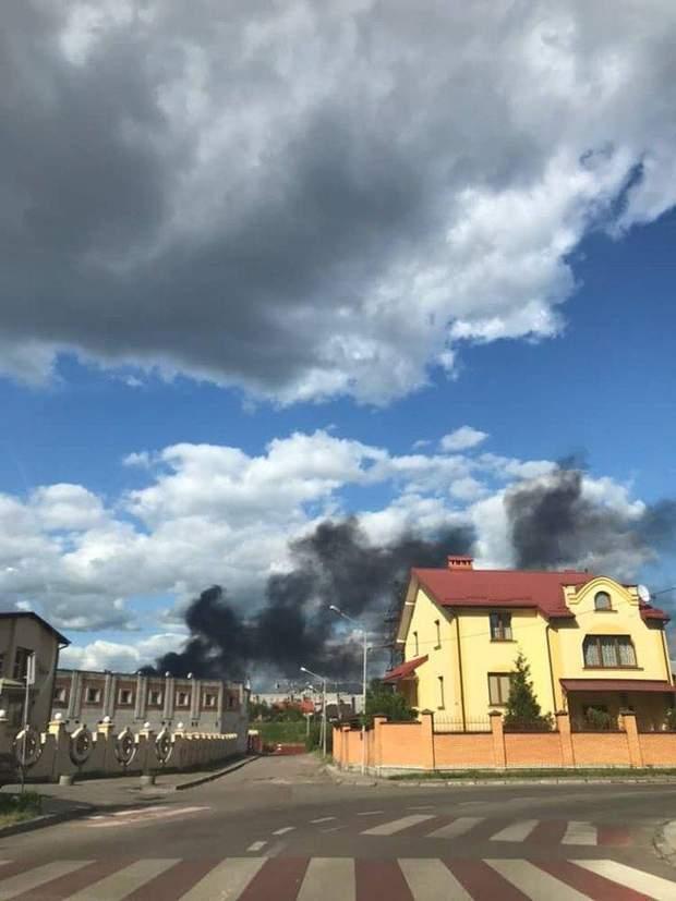 пожар Львов вокзал