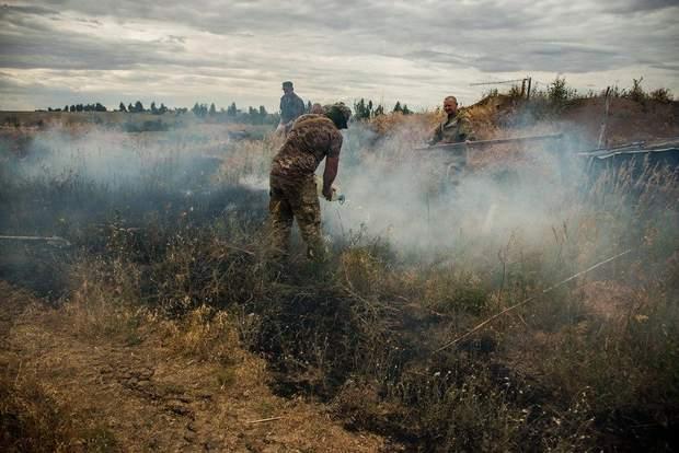 пожежа в зоні ООС