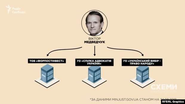 Якими компаніями володіє Медведчук