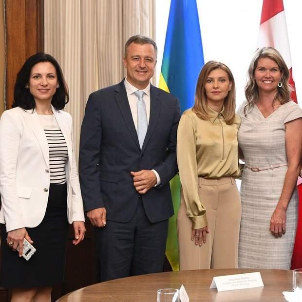 Олена Зеленська на зустрічі з канадськими високопосадовцями