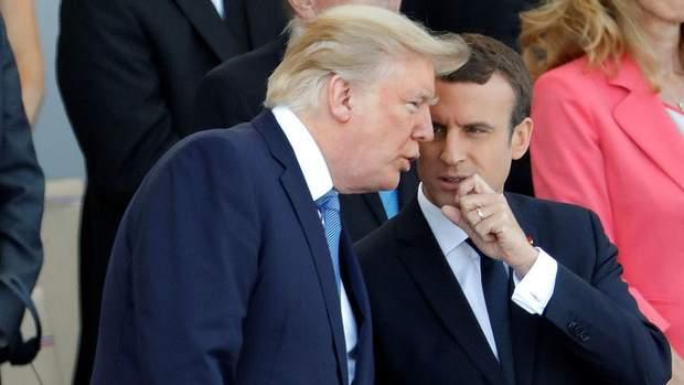 Трамп побывал на параде во Франции