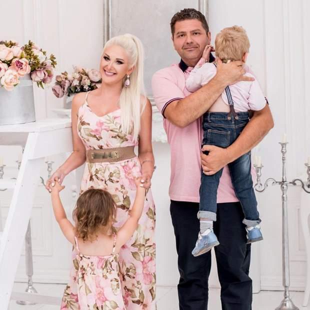 Катерина Бужинська з сім'єю
