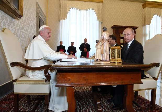 Папа Римський Франциск Володимир Путін зустріч Ватикан
