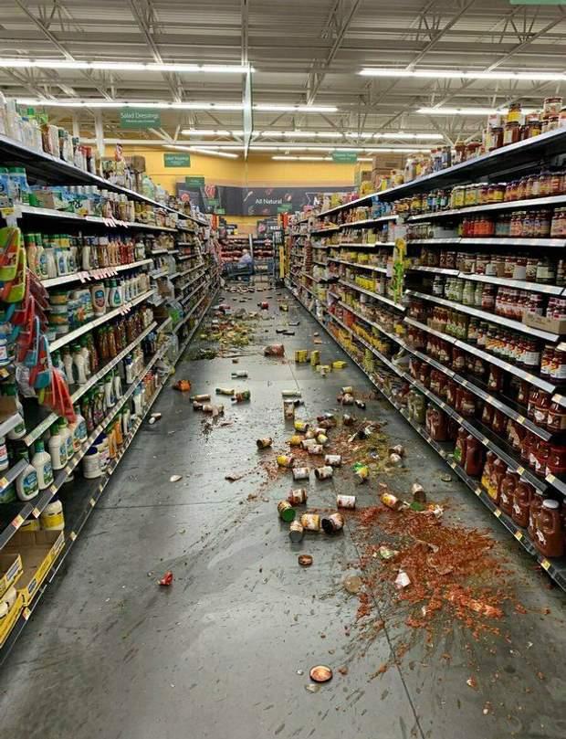 землетрус каліфорнія магазин