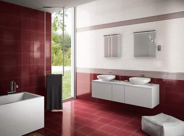 ванна кімната бордо