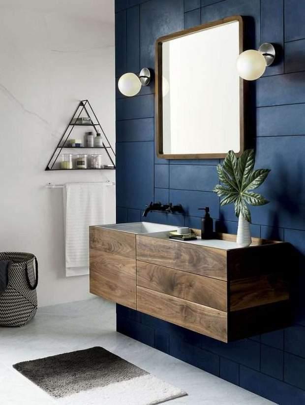ванна кімната синій колір