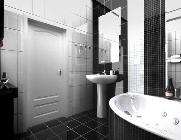 чорний колір ванна