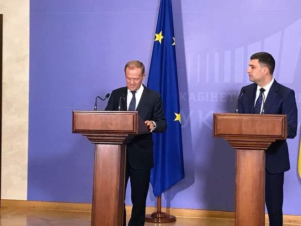 Дональд Туск, Володимир Гройсман, Європейська Рада