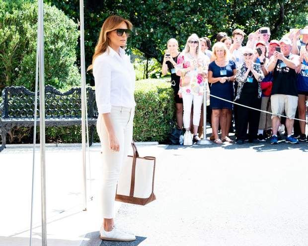 Меланія Трамп перед поїздкою в Нью-Джерсі
