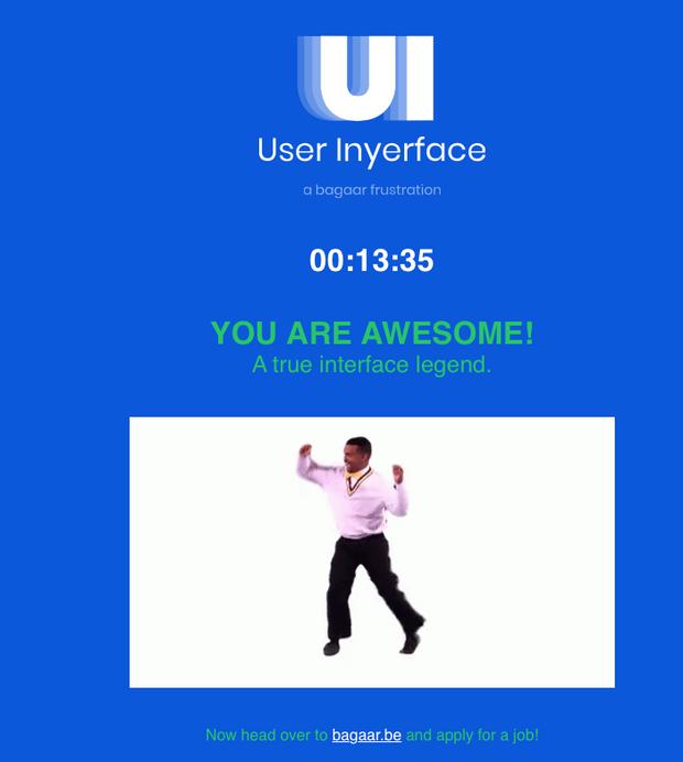 Сайт з пекельним інтерфейсом
