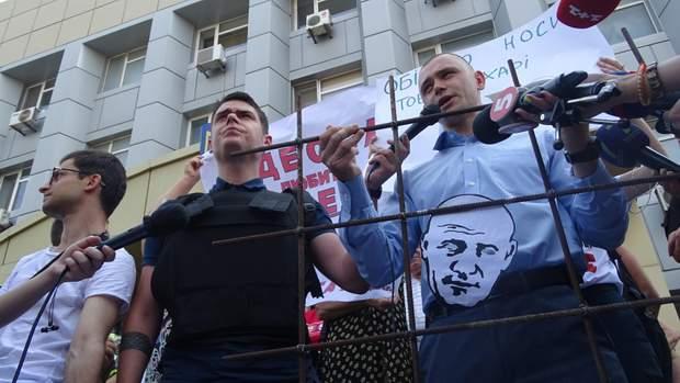 Активіст Віталій Устименко та юрист Віталій Цокур