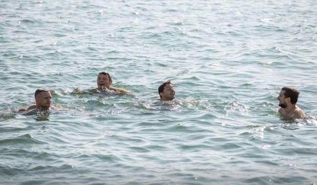 Зеленський скупався в морі