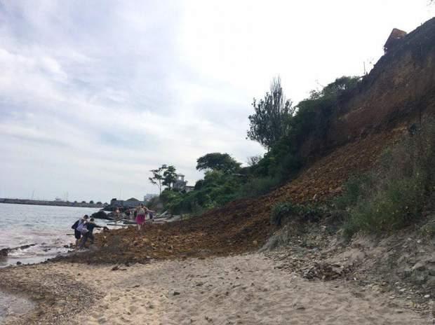 зсув Одеса пляж