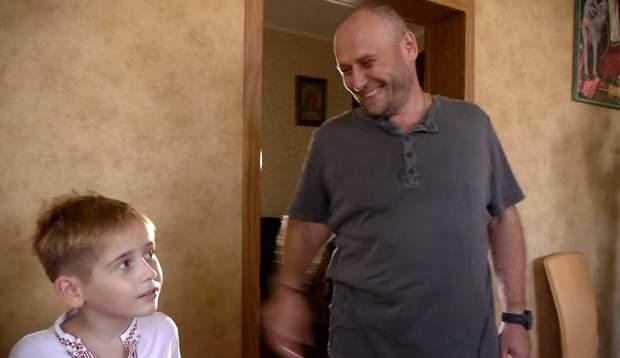 Дмитро Ярош із сином