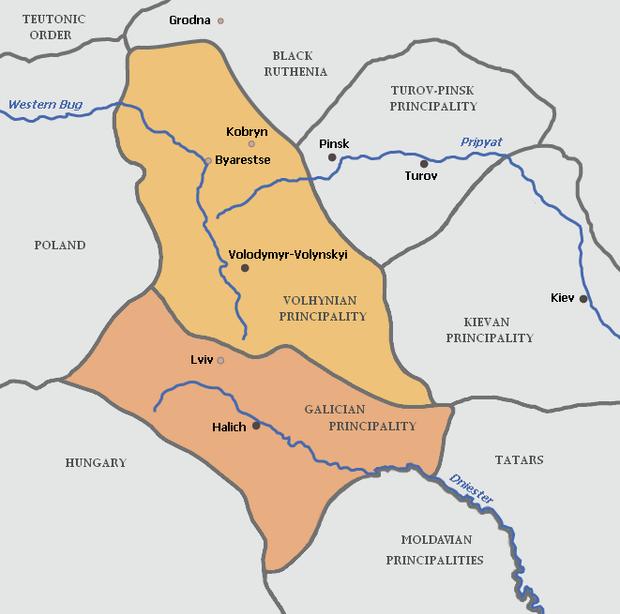 Об'єднане Галицько-Волинське князівство за правління Романа Великого