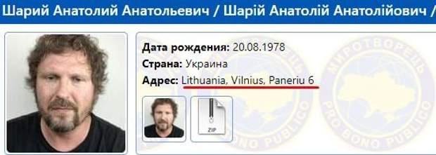 Анатолій Шарій в базі