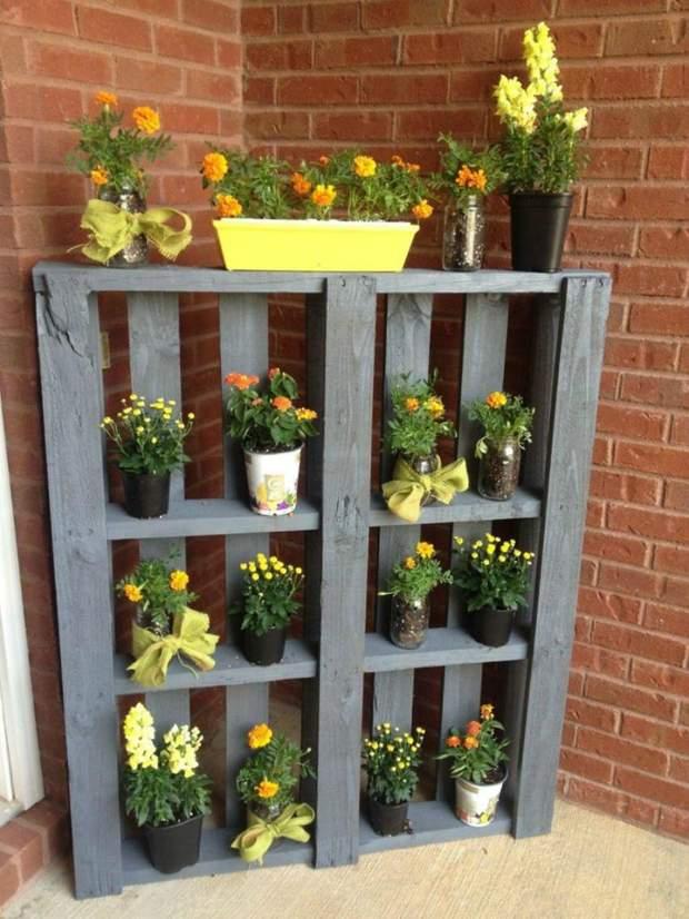 балкон стелаж вазонки рослини