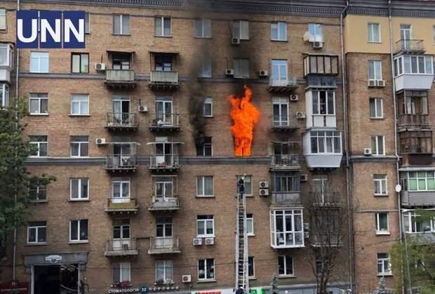пожежа Київ Кловський спуск
