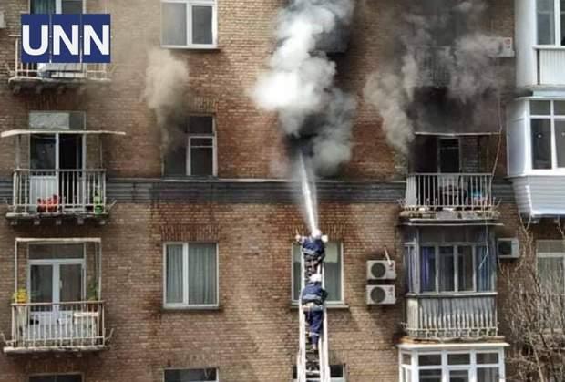 пожежа Кловський спуск Київ