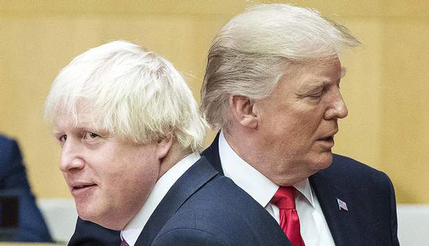 Борис Джонсон і Дональд Трамп