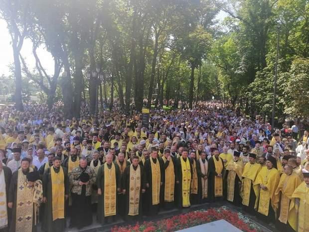Для ПЦУ це перше святкування Хрещення Русі/ фото Олександри Ревуцької, 24 канал